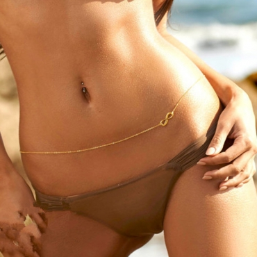 Lovely Trendy Gold Alloy Body Chain