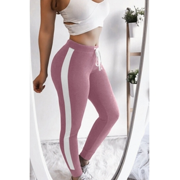 Lovely Sportswear Patchwork Pink Leggings