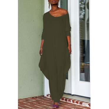 Lovely Trendy Loose Army Green One-piece Jumpsuit