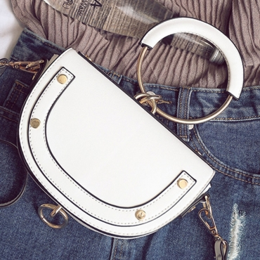 Lovely Casual Patchwork White Crossbody Bag