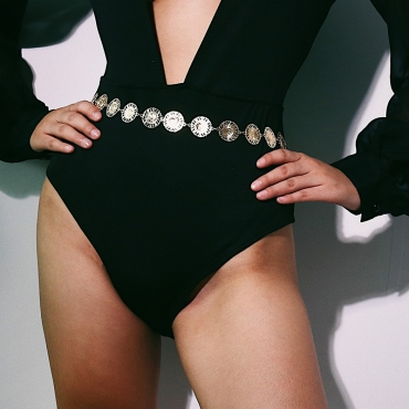 Lovely Retro Hollow-out Gold Alloy Body Chain