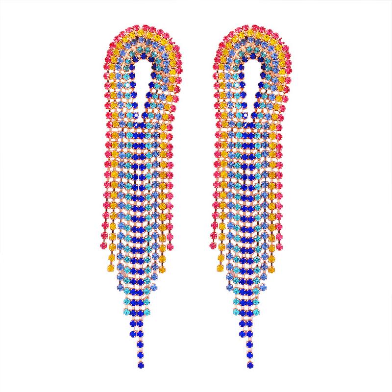 Lovely Chic Tassel Design Multicolor Earring