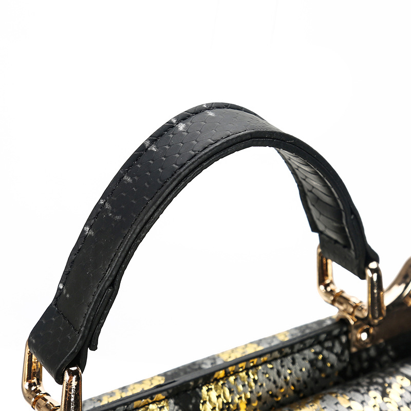 Lovely Chic Letter Black Messenger Bag