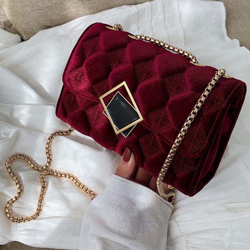 Lovely Trendy Wine Red Messenger Bag