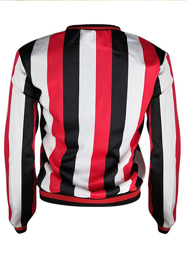Lovely Casual Striped Multicolor Sweatshirt Hoodie