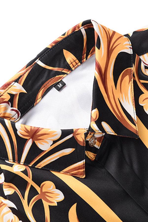 Lovely Trendy Turndown Collar Multicolor Shirt