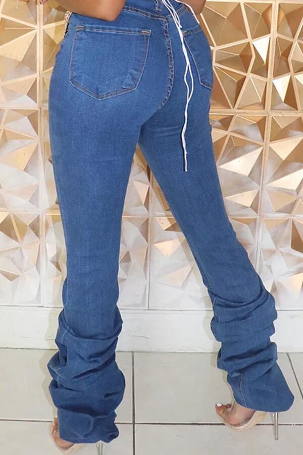 Lovely Leisure Heap Blue Jeans