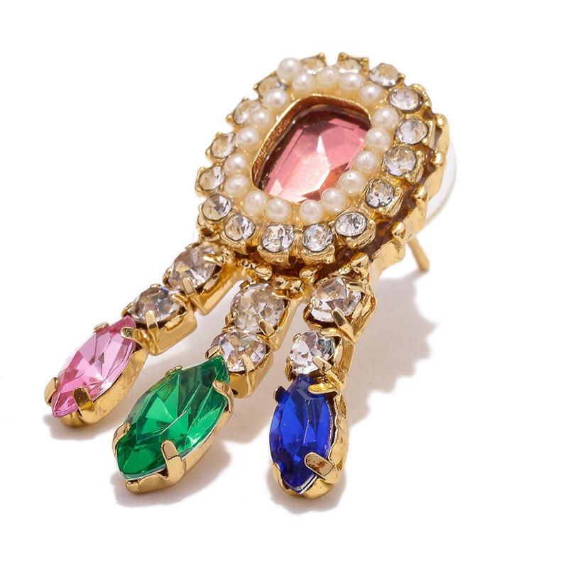 Lovely Chic Tassel Design Multicolor Alloy Earring