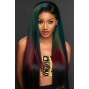 Lovely Trendy Long Straight Multicolor Wigs