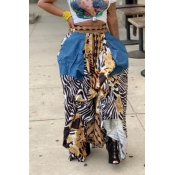 Lovely Casual Asymmetrical Printed Loose Multicolo
