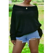 Lovely Work Loose Black Sweater