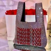 Lovely Trendy Letter Silver Crossbody Bag