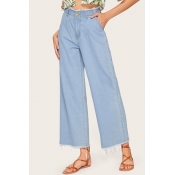 Lovely Leisure Loose Baby Blue Jeans