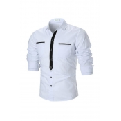 Lovely Trendy Turndown Collar White Shirt