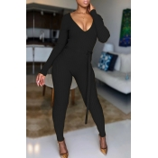 Lovely Trendy Skinny Black One-piece Jumpsuit