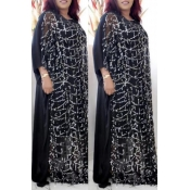 Lovely Casual Sequined Black Plus Size Two-piece Skirt Set