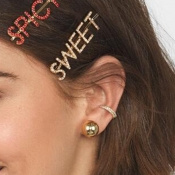 Lovely Stylish Silver Alloy Hairpin