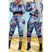 Lovely Casual Sequined Patchwork Multicolor Pants