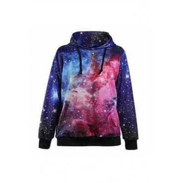 Lovely Casual Printed Black Plus Size Hoodie