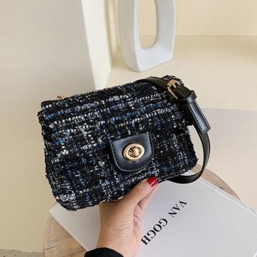 Lovely Trendy Black Messenger Bag
