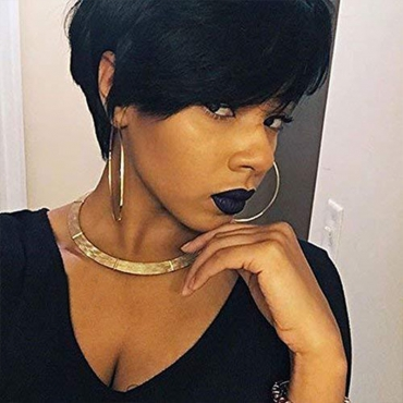 Lovely Casual Short Black Wigs