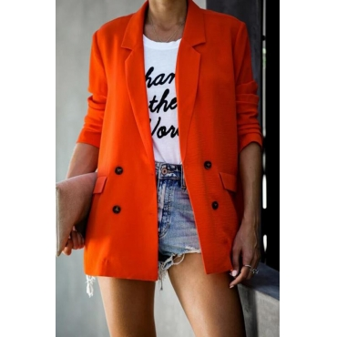 Lovely Casual Double-breasted Jacinth Blazer