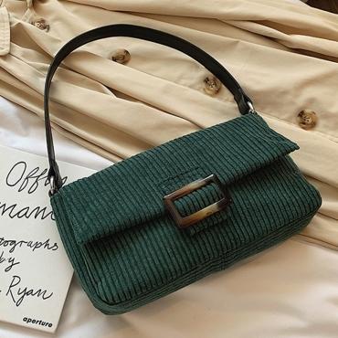 Lovely Trendy Basic Green Messenger Bag