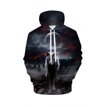 Lovely Chic Printed Multicolor Hoodie