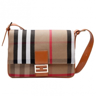 Lovely Casual Plaid Printed Brown Messenger Bag
