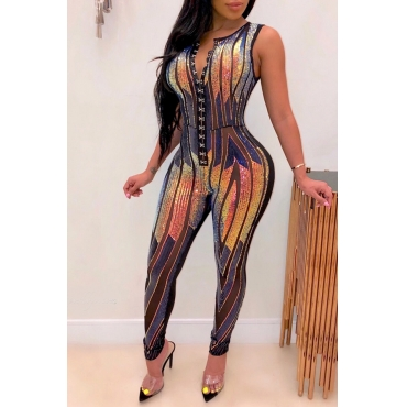 Lovely Trendy Patchwork Black One-piece Jumpsuit