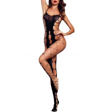 Lovely Sexy Hollowed-out Black Bodystocking