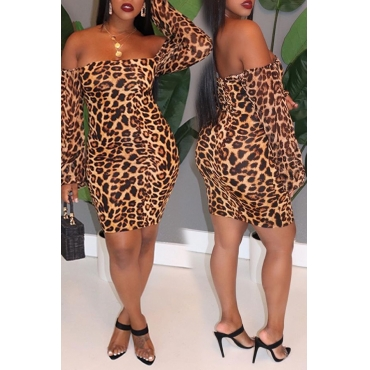 Lovely Casual Leopard Printed Mini Dress