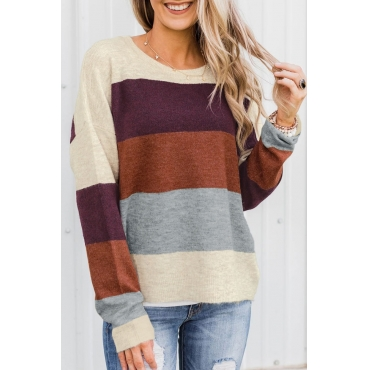 Lovely Color-lump Multicolor Sweater