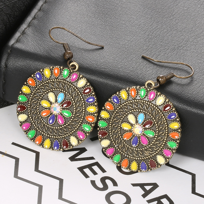 Lovely Retro Multicolor Alloy Earring