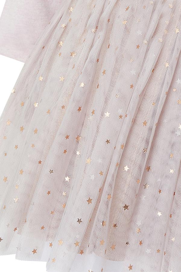 Lovely Sweet Patchwork Light Pink Knee Length Girls Dress