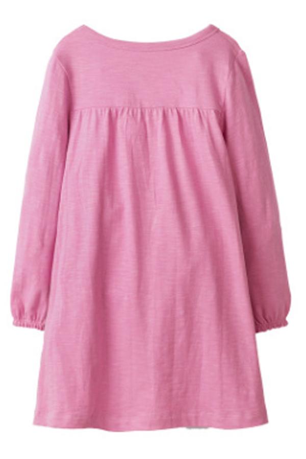 Lovely Sweet Cat Pink Knee Length Girls Dress