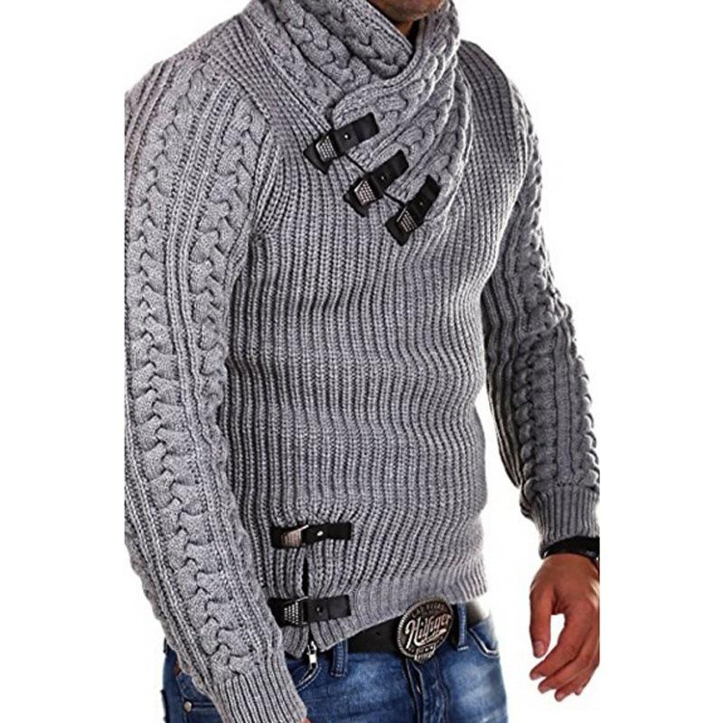 Lovely Trendy Patchwork Light Grey Sweater