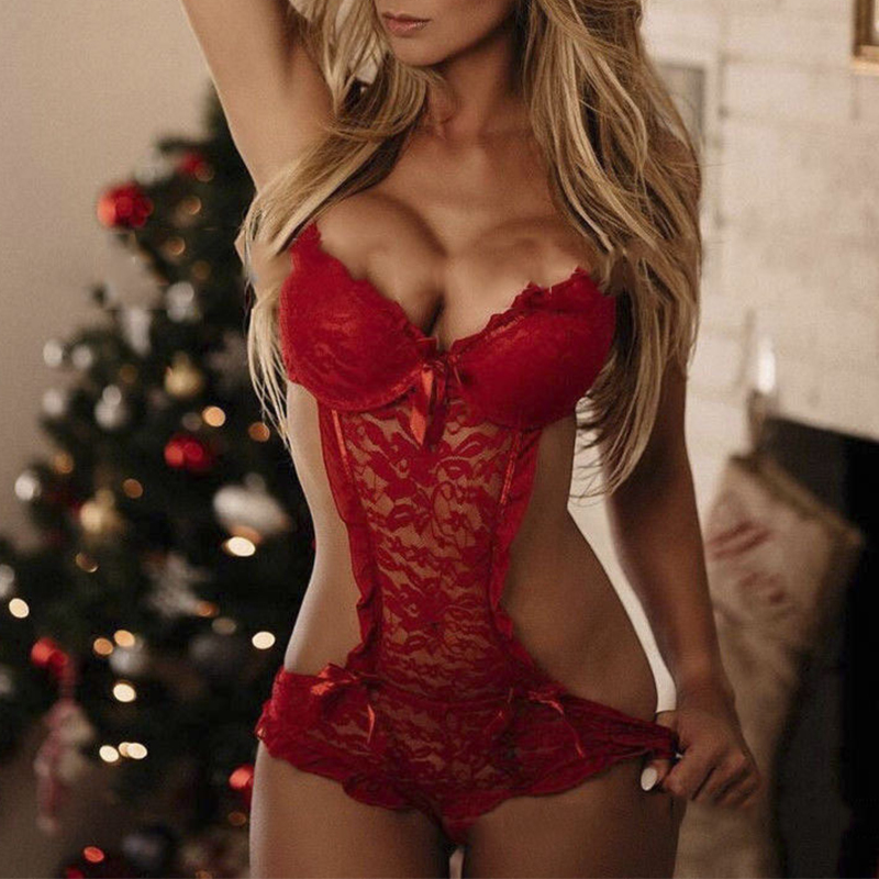 Lovely Sexy Skinny Red Teddies