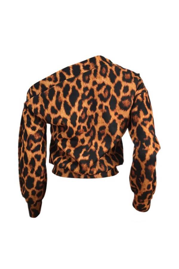 Lovely Casual Leopard Print Sweatshirt Hoodie