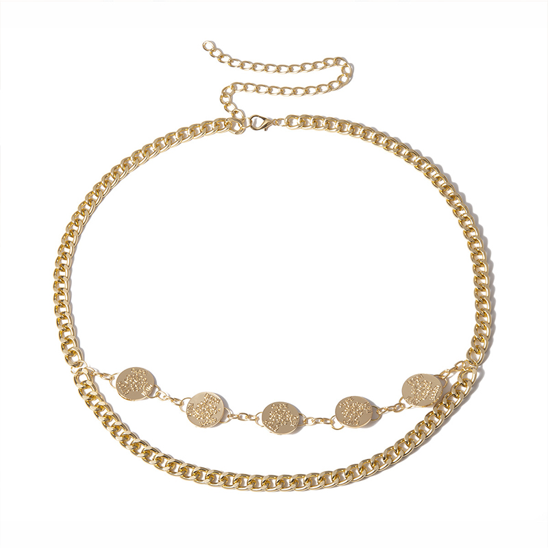 Lovely Trendy Gold Metal Body Chain