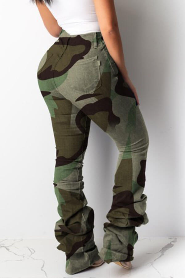 Lovely Casual Camouflage Printed Pants