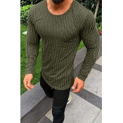 Lovely Casual Striped Green T-shirt