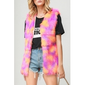 Lovely Casual Sleeveless Multicolor Vest