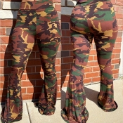 Lovely Trendy Camouflage Printed Pants