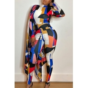 Lovely Trendy Cloak Design Multicolor One-piece Ju