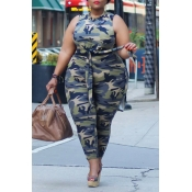 Lovely Casual Camouflage Printed Plus Two-piece Pa