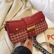 Lovely Fashion Red Messenger Bag