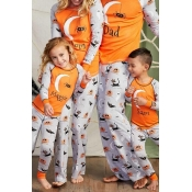 Lovely Halloween Printed Yellow Mother Two-piece P