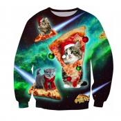 Lovely Christmas Day O Neck Multicolor Sweatshirt