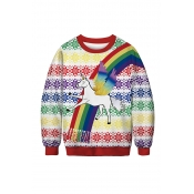 Lovely Christmas Day Printed Multicolor Sweatshirt
